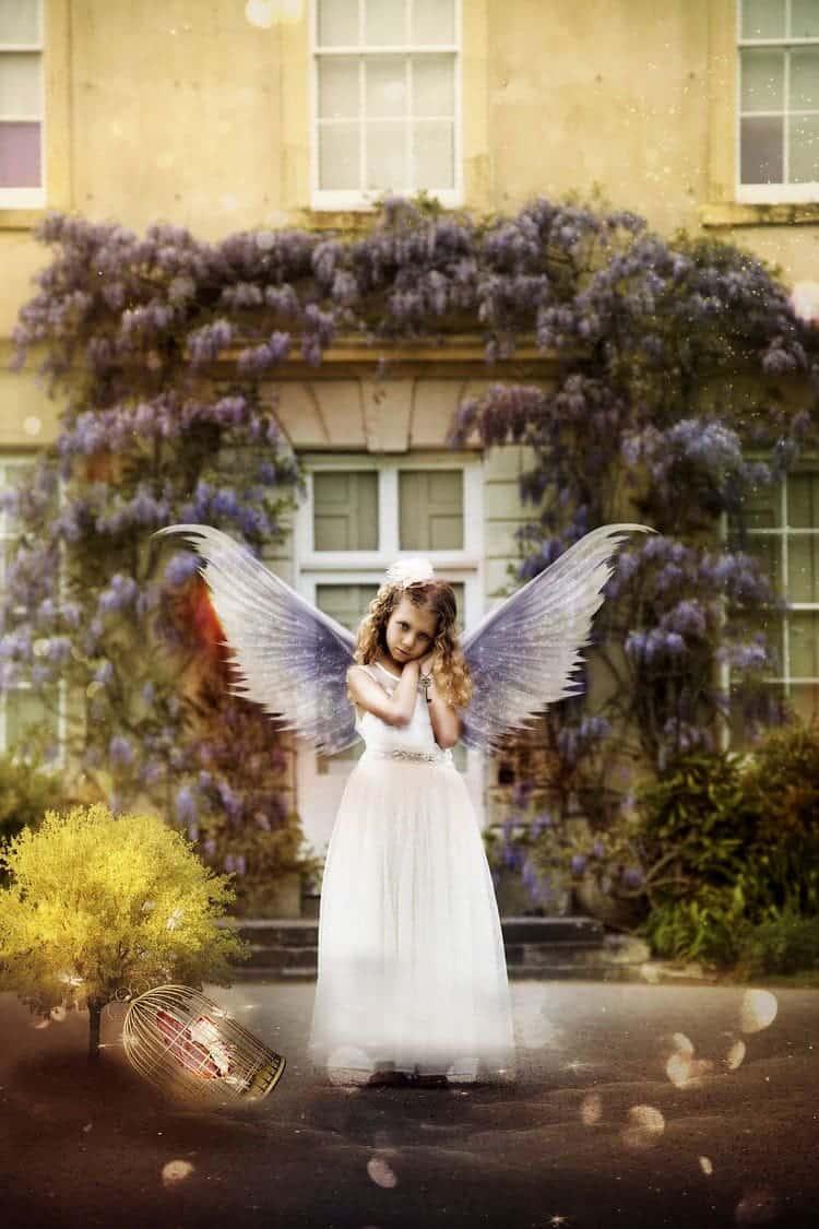 angel girl door