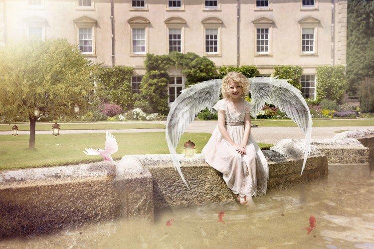 angel wing girl pond