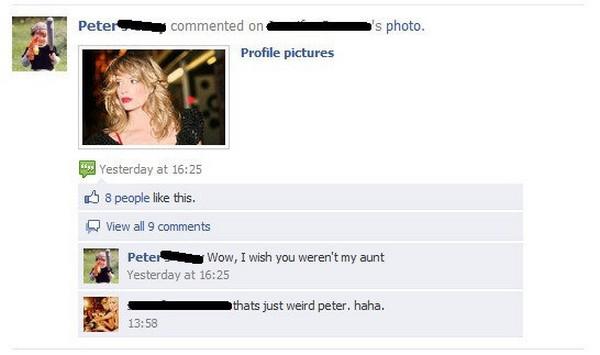 aunt facebook fail