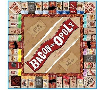 bacon-opoly board