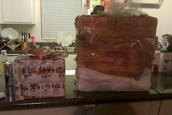 badly wrapped presents