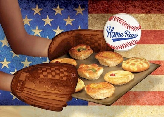 baseball mitt oven glove