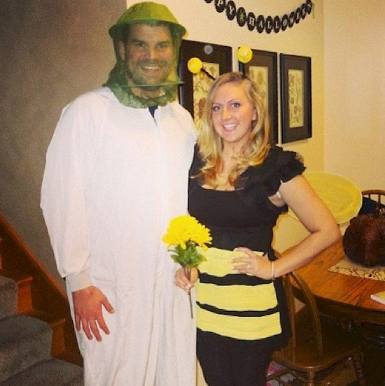 bee and beekeeper