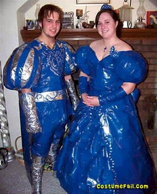 blue costume fail