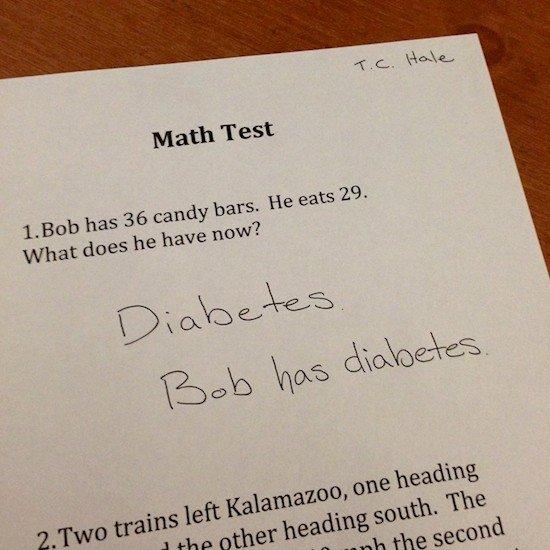 bob has diabetes