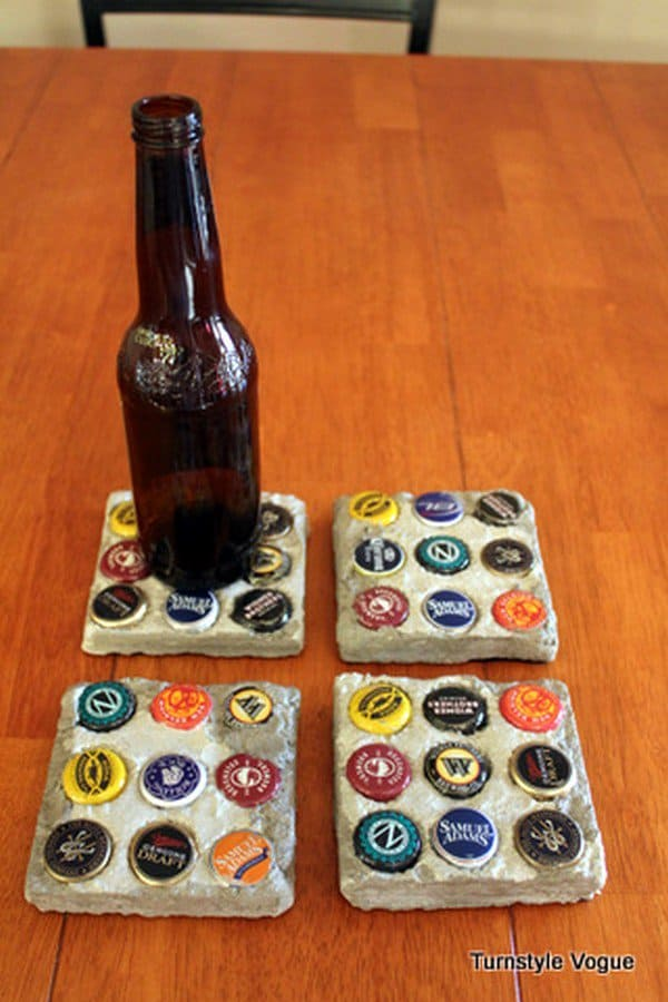 bottle caps coasters