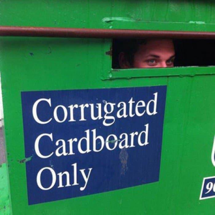cardboard only guy