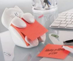 cat sticky note dispenser