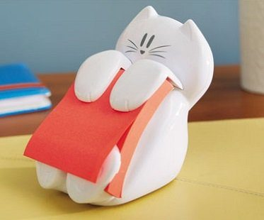 cat sticky note dispenser post-it