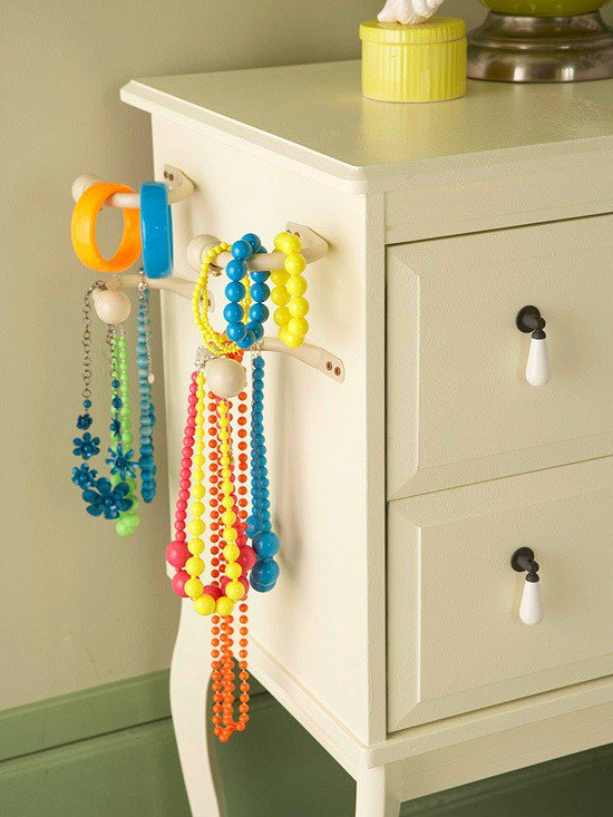 coat hooks dresser jewelry