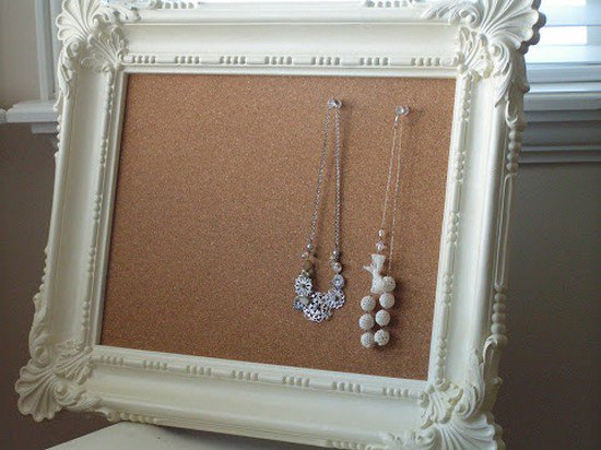 cork board frame earrings