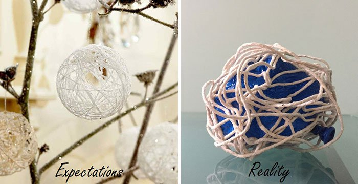crushed snowball decoration