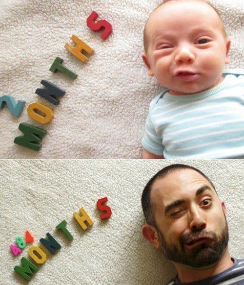 dad baby months