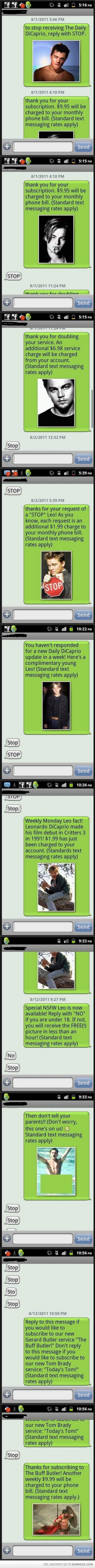 dicaprio text prank