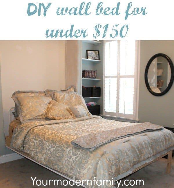 diy wall bed