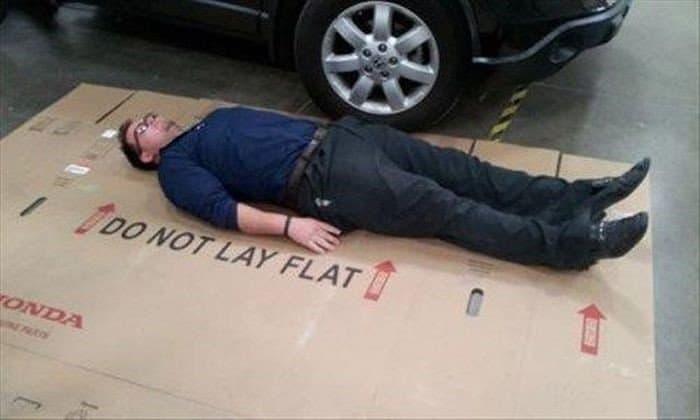 do not lay flat