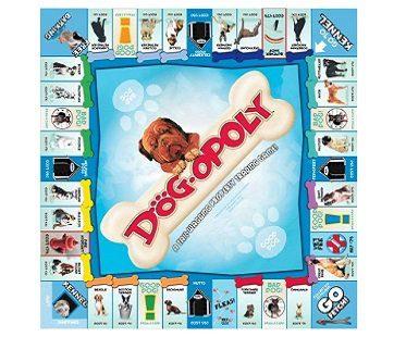 dog-opoly board