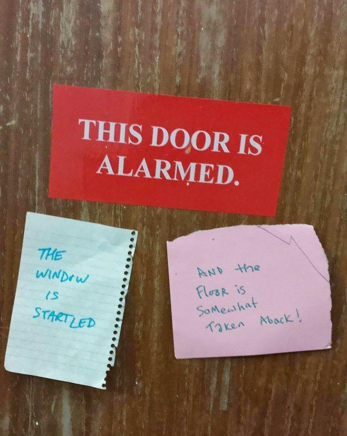 door alarmed