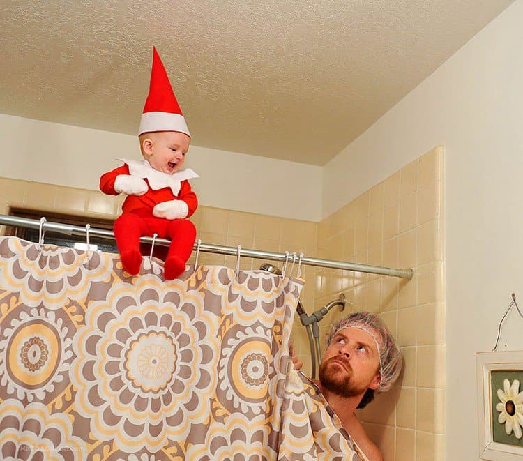 elf in bathroom