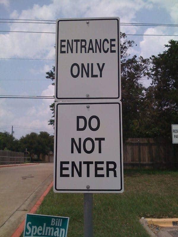 entry fail