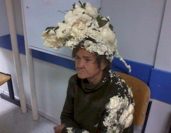foam head woman