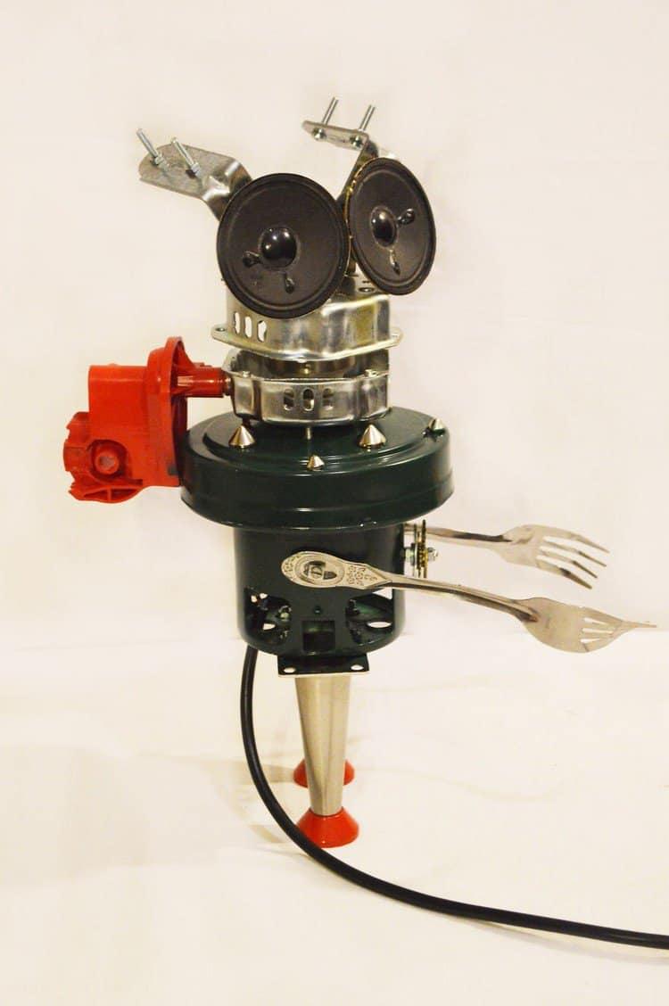 fork robot lamp