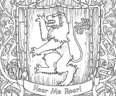 game of thrones coloring book lion