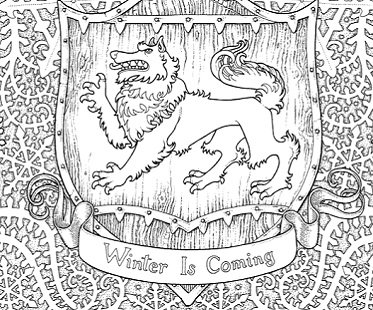 game of thrones coloring book game of thrones coloring book winter - Game Of Thrones Coloring Book