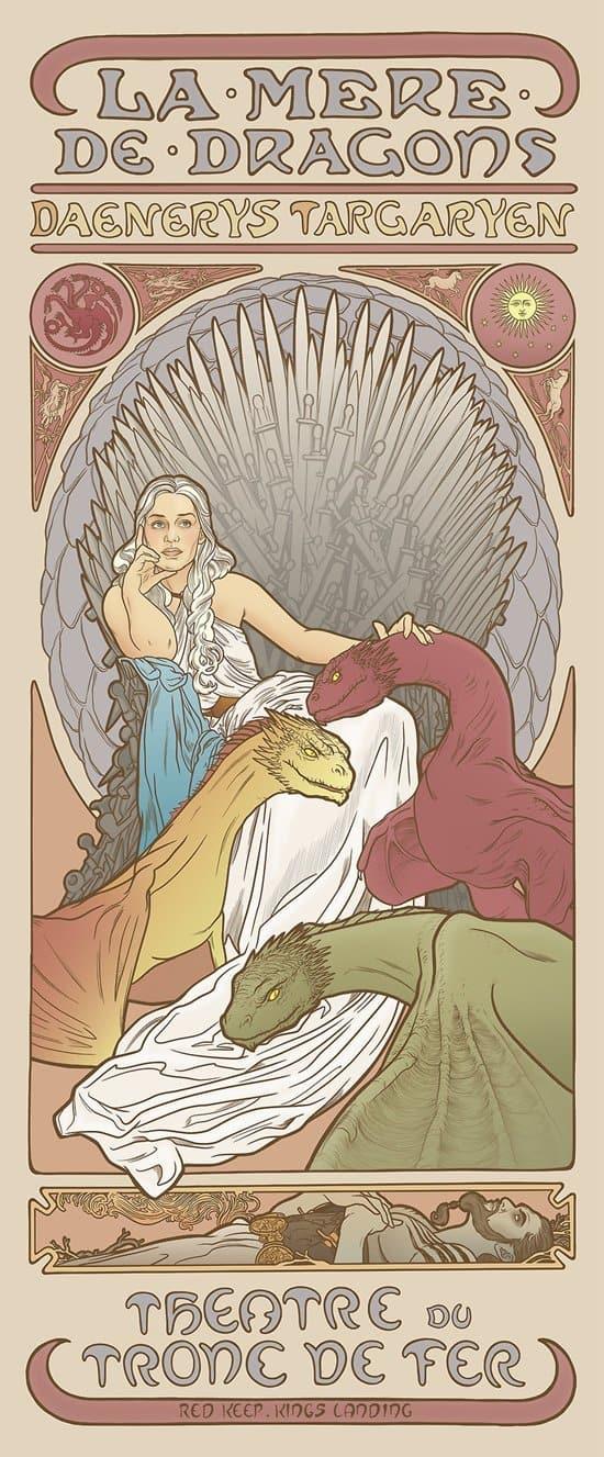 game-of-thrones-mucha-daenerys