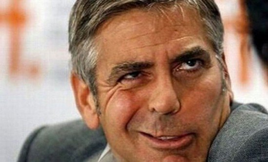 george clooney funny face