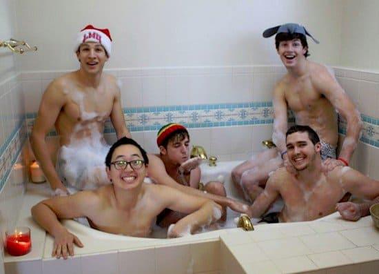 guys bathing