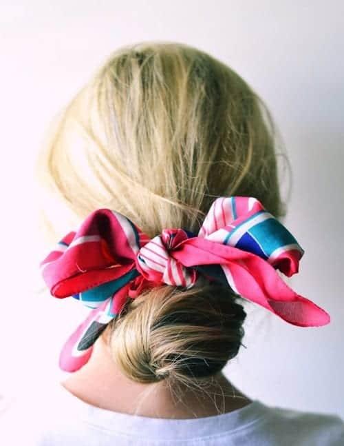 hair-tips-scarf-bun