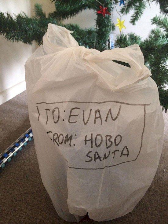 hobo santa gift