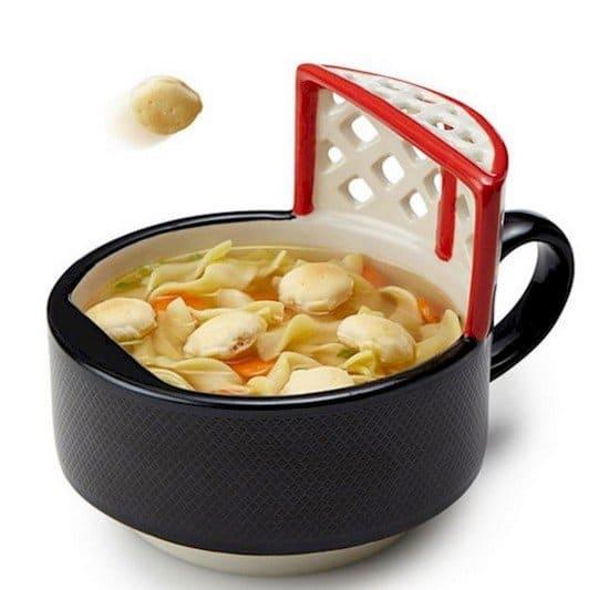 hockey net soup bowl