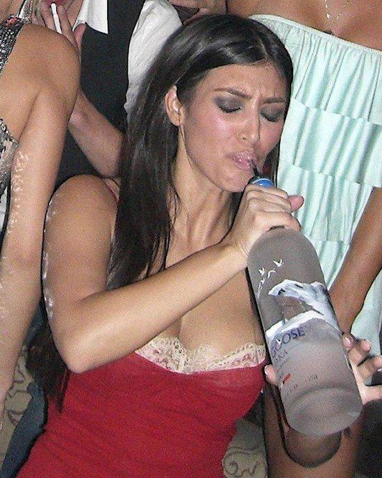 kim kardashian drinking