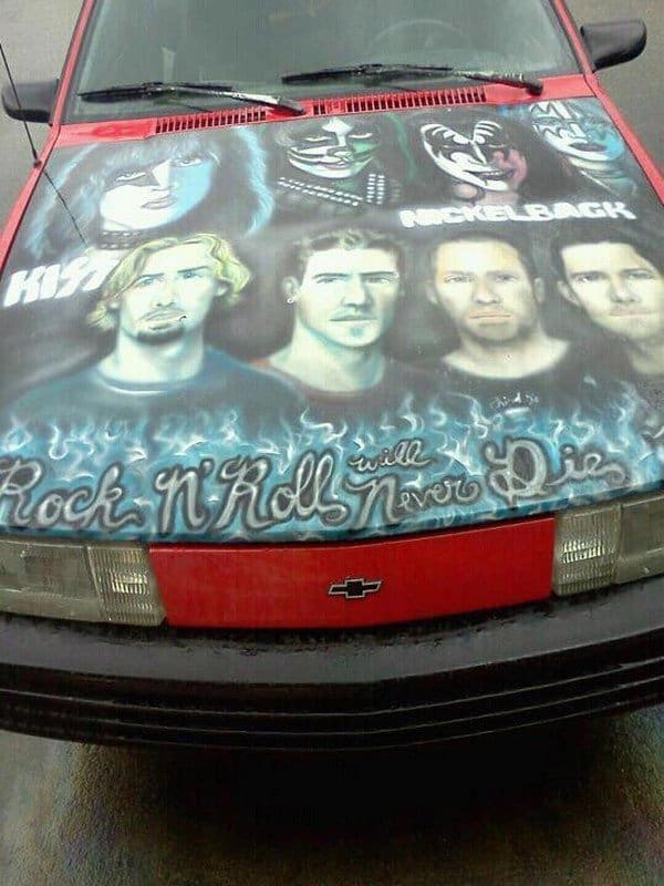 kiss nickelback car