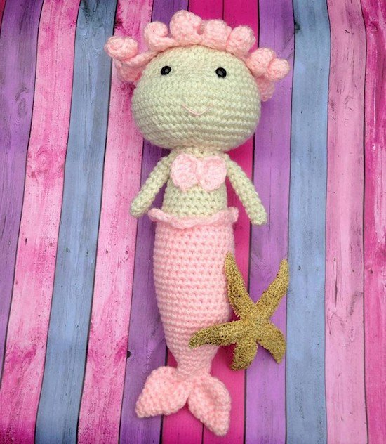 knitted mermaid dolly