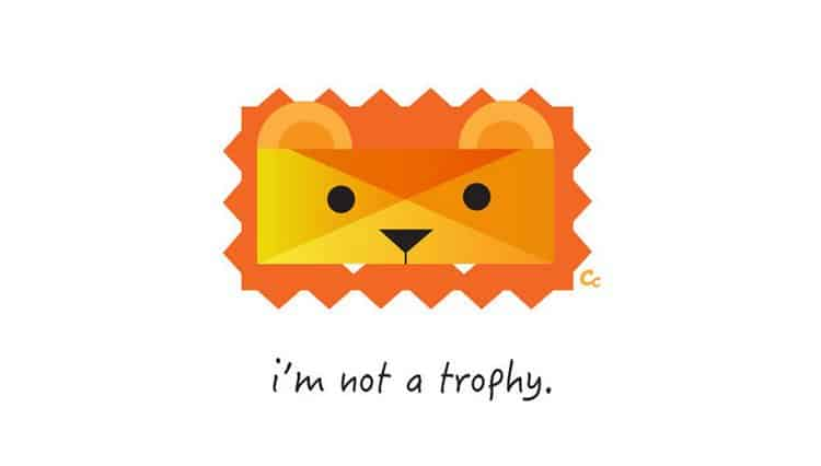 lion not trophy