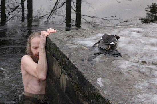 man duck