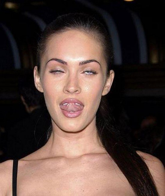 megan fox tongue
