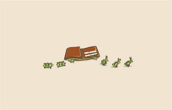 money jumping away