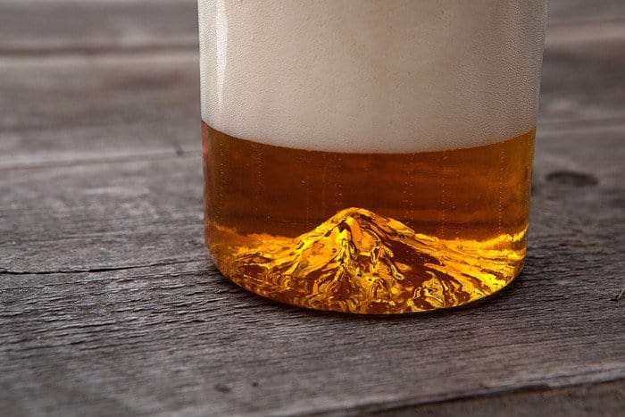 mountain in beer glas