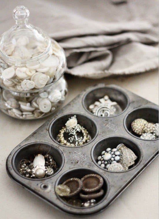 muffin tin jewelry