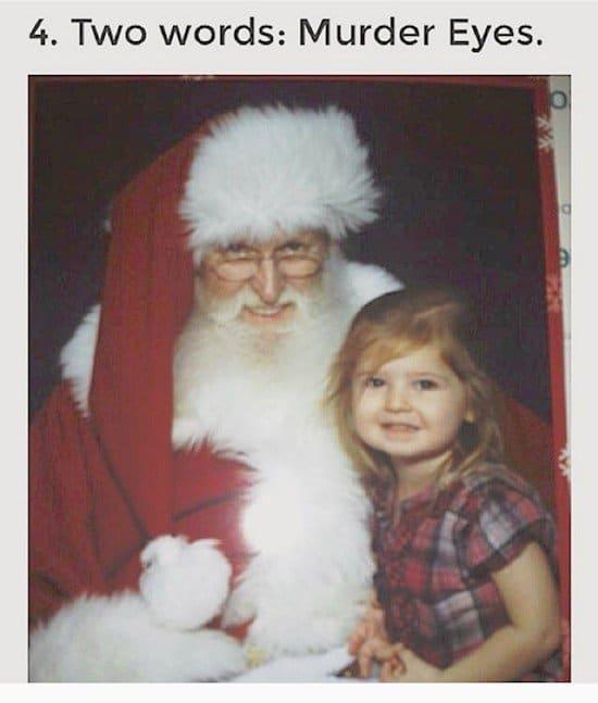 murder eyes santa