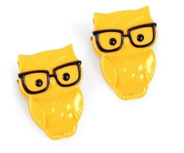 nerd owl clips yellow