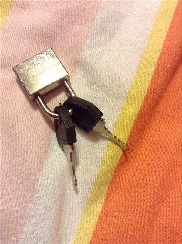 padlocked keys