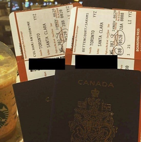 passports flight tickets
