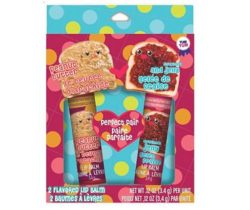 peanut butter and jelly lip balms