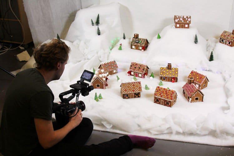 photographer gingerbread town