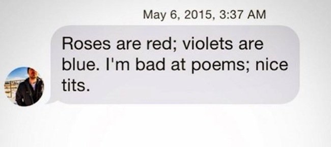 roses are red violets are blue im bad a poems
